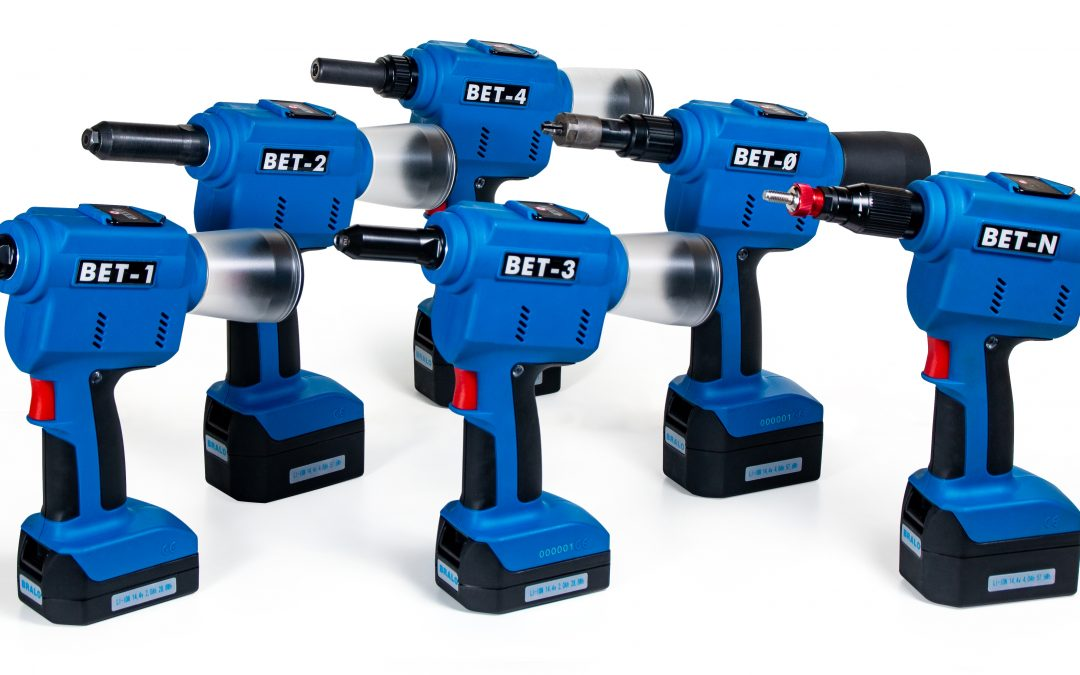 NEW RANGE OF BRALO BATTERY RIVETING TOOLS BET:  1 BATTERY SYSTEM, 6 RIVETERS